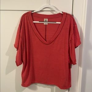 Pink Free People casual shirt